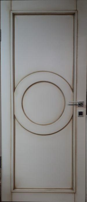 Межкомнатная дверь в профиле массив (эмаль с патиной) Могилёв