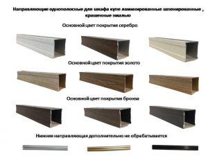 Направляющие однопосные для шкафа купе ламинированные, шпонированные, крашенные эмалью Могилёв