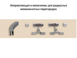 Направляющая и механизмы верхний подвес для радиусных межкомнатных перегородок Могилёв